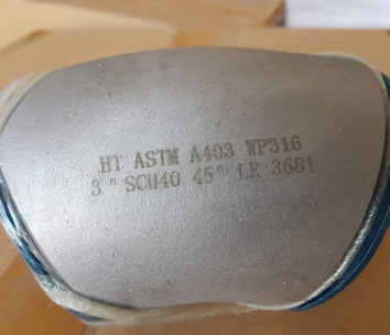 ASTM A403 45 Degree Stainless Steel Elbow