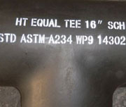 SCH 20, 8 Inch, ASTM A234 WP9 Seamless Alloy Steel Equal Tee
