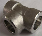 CL3000, DN25, SW, ASME B16.11, ASTM A105 Carbon Steel Equal Tee