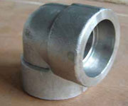 1/2 Inch NPT Screwed, 90 DEG, Class 3000, ASTM A182 F304L Elbow
