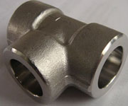 CL3000, DN25, SW, ASME B16.11, ASTM A182 F321 Stainless Steel Equal Tee