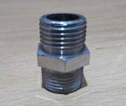 1/4 Inch, JIC x NPT, 6000 PSI, Carbon Steel Male Hex Nipple