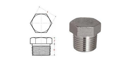 Threaded Pipe Plug Dimensions